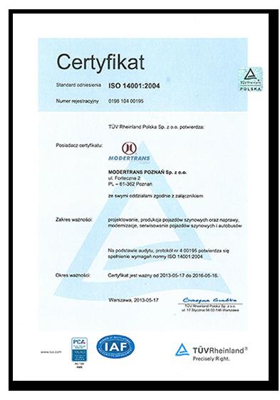 ISO 14001:2015 System Zarządzania Środowiskowego