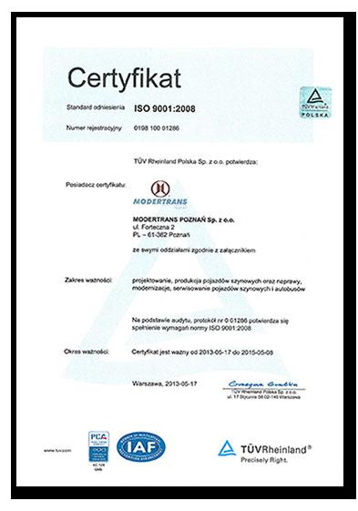 ISO 9001:2015 System Zarządzania Jakością